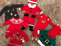 Various Baby Christmas Outfits 0-3 months