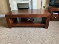 Solid Wood Coffee Table and Nest of Tables