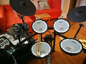 Roland TD-11 Drum kit with stool, sticks and headphones