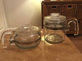 American Pyrex teapot and coffee pot