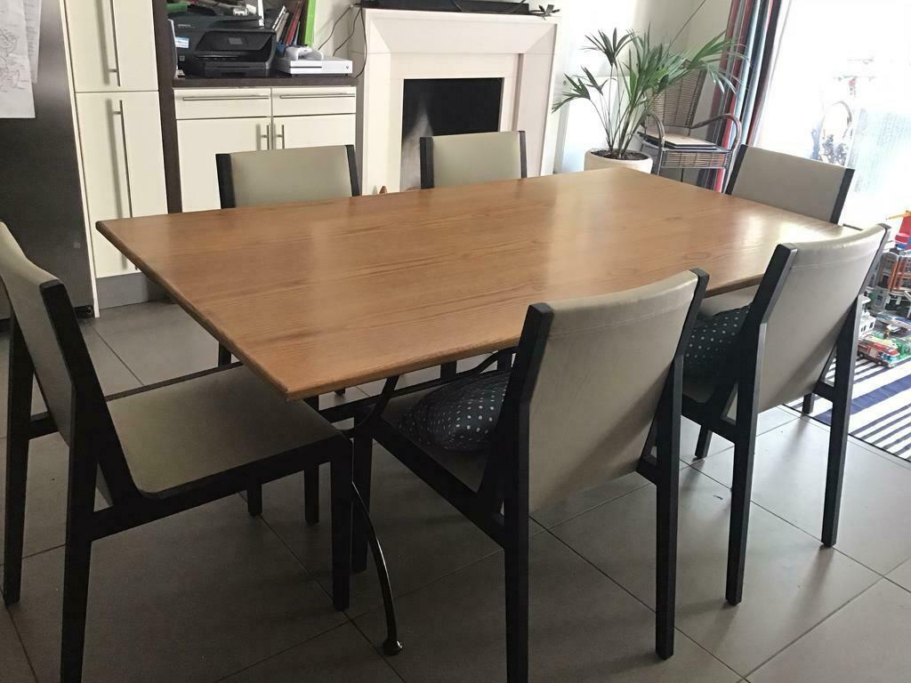 SOLD - John Lewis Kitchen/dining table - solid wood top ...