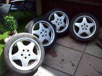 """x4 RIAL 17"""" ALLOYS 5X112 MERCEDES - VW T4 GOLF MK5,6,7 - AUDI A4 - I WILL POST"""