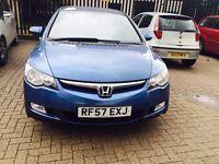£2750 OR ONO Honda Civic 1.3 IMA Hybrid ES 4dr HPI clear