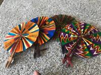 African print Ankara/ Kente folding fans
