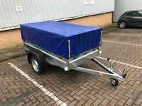 Faro Pondus car box trailer + 40 cm mesh side 750kg and cover