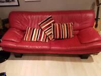 Italian Leather Sofa & Chair