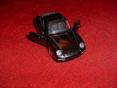 PORSCHE CARRERA MODEL CAR BLACK NEW SCALE APPROX: 1:43 VERY