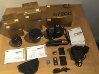 Nikon D7200 DSLR with 2 Nikon lenses and Accessories
