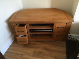 Next TV corner cabinet oak effect