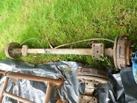 ford transit back axle trailer project