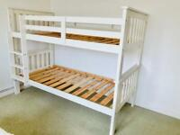 Sturdy White Wooden Bunk Beds Or Single