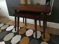 Mid Century Retro Vintage Nest of Tables