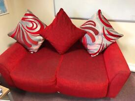 Red 2 Seater Sofa (DFS)