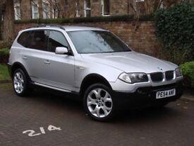 AA WARRANTY!!! 54 REG BMW X3 3.0 i AUTO SPORT 5dr, SAT NAV, FULL LEATHER, HEATED SEATS, 1 YEAR MOT