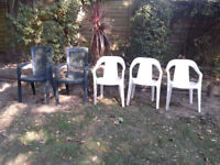 5 Patio Garden Chairs FREE LOCAL DELIVERY