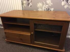 Used wooden tv cabinet