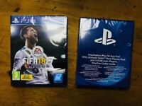 Fifa 18 for PlayStation, Rare Players Pack and 14 days PlayStation Plus PS4
