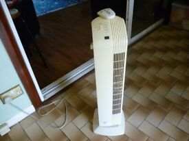 beautiful quality tower fan with remote,three speeds,timer,ocilation etc..excellent.....