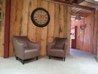 2 x Art-Deco Bespoke Armchairs