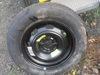 WHEEL AND BRAND NEW TYRE DUNLOP SPORT 300 195/65/15 WILL FIT PEUGEOT