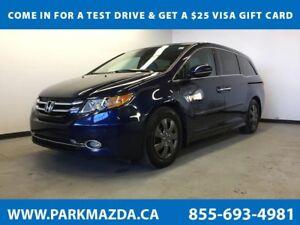 2014 Honda Odyssey Touring FWD - Bluetooth, Remote Start, NAV, B