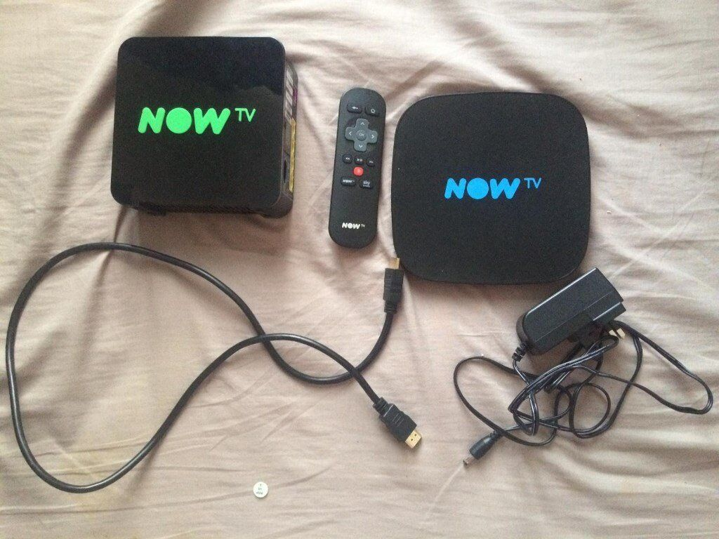 Now TV smart box with remote and all necessary wires including HDMI cable