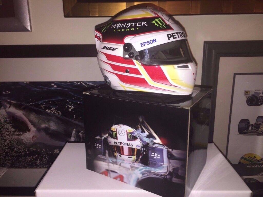 Formula 1 World Champion Lewis Hamilton's Replica Helmet 'Still I Rise' Brand New Boxed 1:2 Scale !