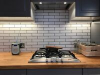 20x5cm white ceramic tiles - 2.5 sq metres available at £30 per sq metre