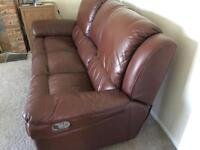 Three seater sofa recliner