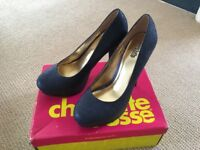 Charlotte Russe Sparkly Blue 'New' Shoes - Size UK6-6.5 US9