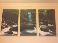 Landscape Canvas (Waterfall 3 Panels)