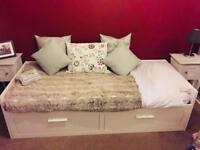 Brimnes Day Bed with 2 mattresses and 2 drawers (Ikea)