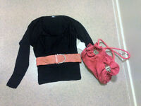 Womens size 12 outfit bundle - top, bag, belt- BRAND NEW ASOS TOP WITH LABELS STILL ON!!!!