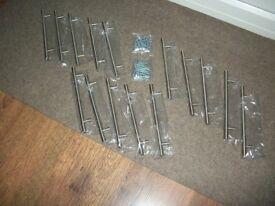 15 Brushed Nickel Kitchen Cupboard Door Handles