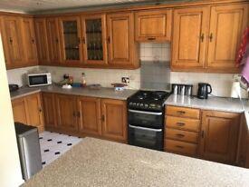 Kitchen for sale - units, worktop, sink & tap
