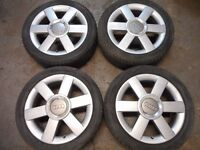 "GENUINE AUDI A1, A2, A3, TT, VW GOLF MK4, BEETLE BORA 16"" inch ALLOY WHEELS"