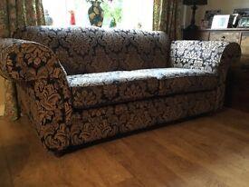 Kirkdale sofa and one chair. Kensington in black.