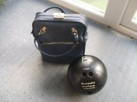 Vintage Bowling Bag and Brunswick