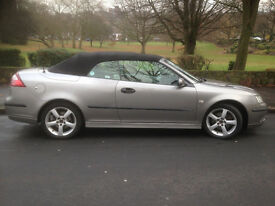 Saab 9-3 1.9TiD VECTOR AUTO 2007 CONVERTIBLE DIESEL SILVER CREAM FULL LEATHER
