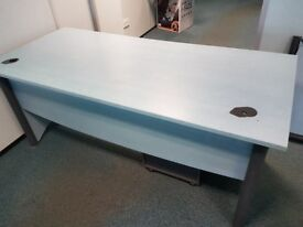 1800 mm office desk with matching pedistal
