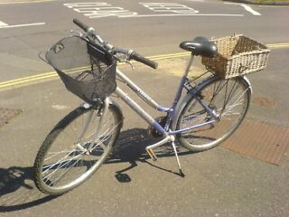 Ladies Town or Country Hybrid Bike with 2 Baskets