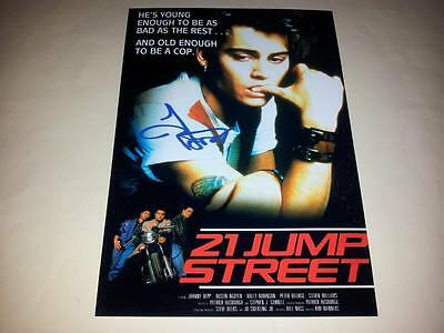 "21 JUMP STREET PP SIGNED 12X8"" POSTER TV SERIES JOHNNY DEPP"