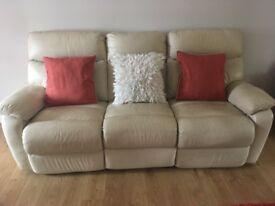 3, 2 seat leather recliner suite