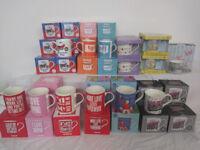 Job Lot of Mugs/Cups & Keep Calm / Text Talk Coasters 138 items