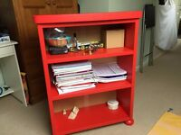 Red Childrens Bookcase