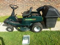 Hayter tractor mower, briggs & Stratton, 30' cut with manual, (local/surrounding delivery) (Newick)