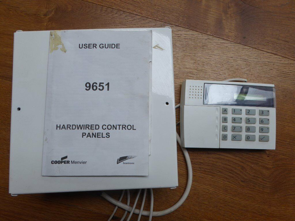 Burglar Alarm - Cooper Menvier 9651 Control unit & keypad | in ...