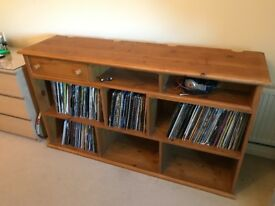 Solid Wood Table desk DJ Vinyl Record storage