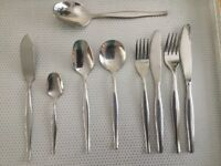 56 piece cutlery set, stainless steel