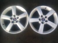 "17"" Alloy Wheels Saab, Vauxhall Astra, Zafira, Vectra Etc 5 X 110 pcd Set of 4 in tidy condition."
